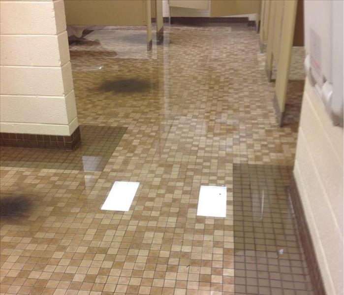 Commercial Sewage Loss in Decatur, GA  Before