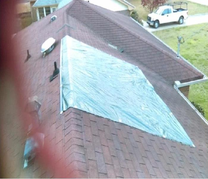 Roof Tarp in Gwinnett County, Georgia
