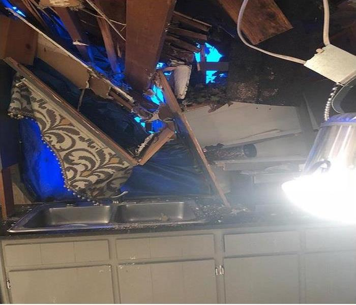 Tree Through Roof During Storm